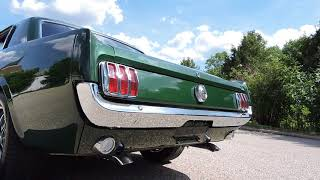 1966 ford mustang gt clone green for sale at www coyoteclassics com