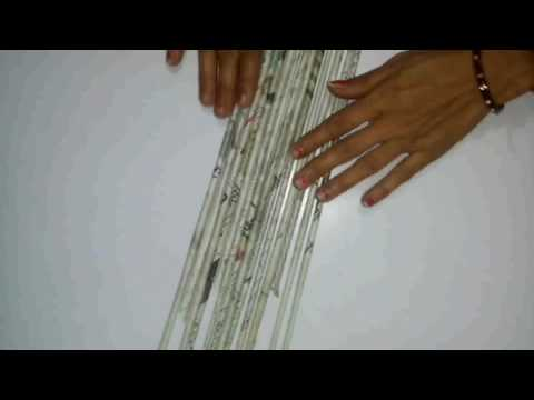 How to make photo frame with waste newspapers