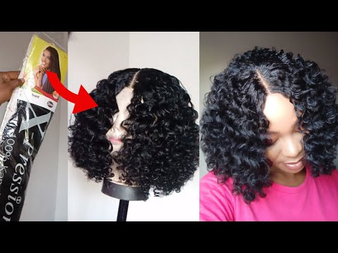 curly-crochet-wig-using-expresssion-braid-extension-/-how-to-curl-braid-extension-/lace-closure-wig
