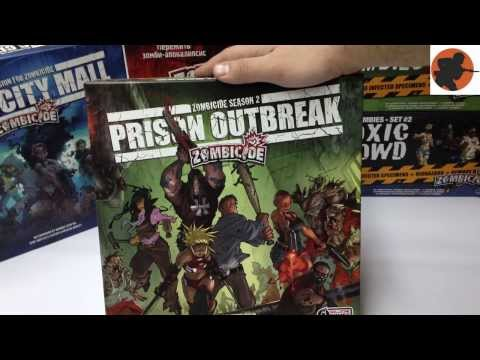 DAY 3 Zombicide, сезон 2 (Zombicide Prison Outbreak Unboxing - Russian Version)