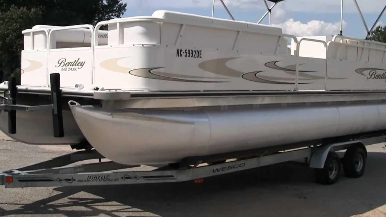 bentley pontoon pontoons in rear lounger norfolk power va virginia new elite boats dealers outboard