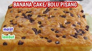 Resep Bolu Pisang Tanpa SP, banana cake lembut dan Enak