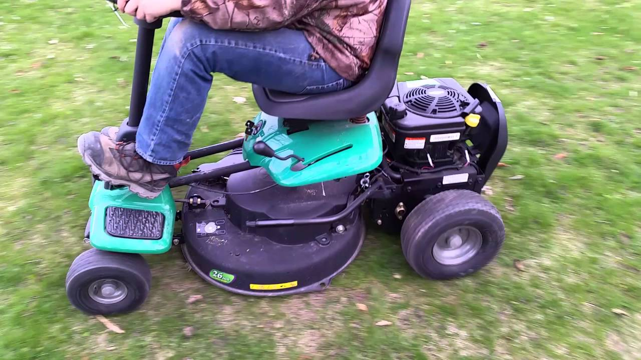 weed eater one youtube weed eater rider mower at Weed Eater Rider Mower