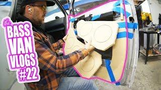 SPEAKER PLATES, custom door panel build - Bass Van Vlogs #22