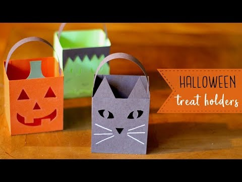 3 Easy Paper Halloween Treat Holders/Luminaries! 🎃  BOOtorials