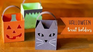 3 Easy Paper Halloween Treat Holders/Luminaries! 🎃  BOOtorials