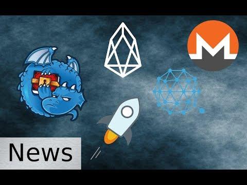 Friday New Roundup - Monero, Stellar, Dragon, Qtum, and EOS