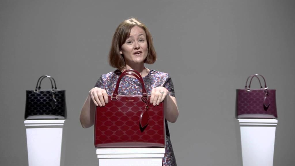 Lulu Guinness Embossed Lips Medium Amelia Tote Bag