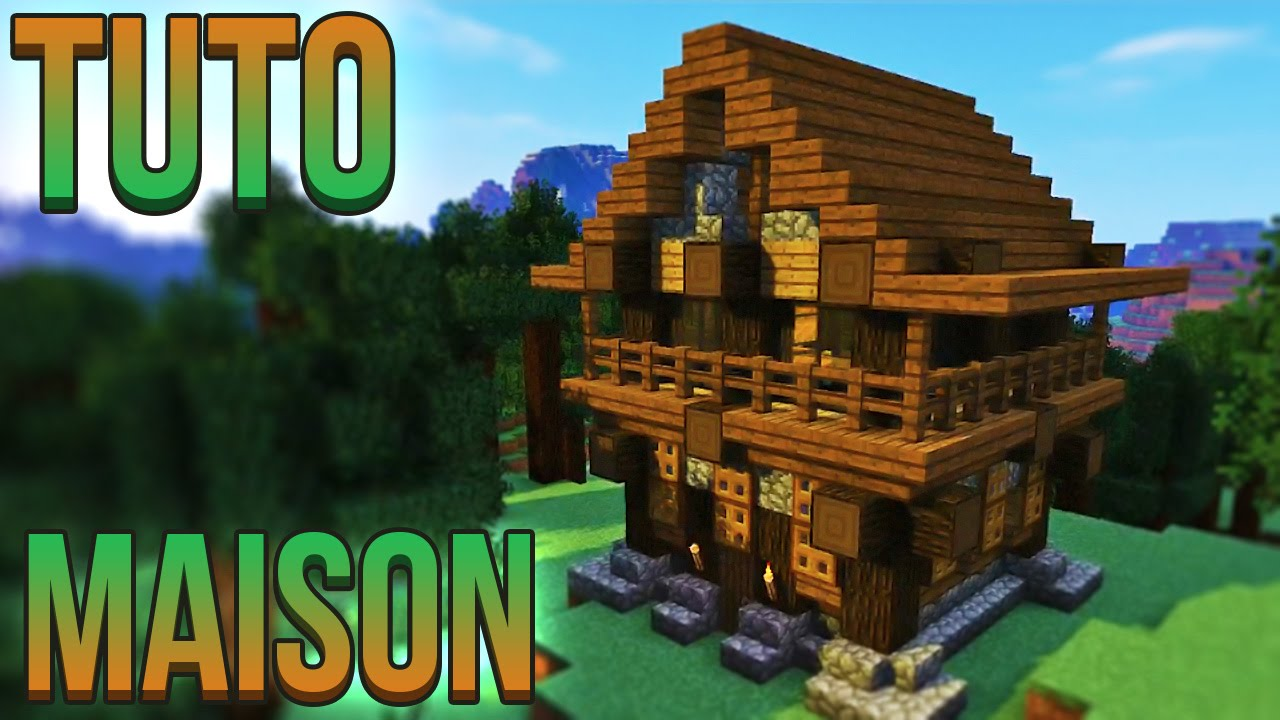 Tuto belle maison minecraft youtube for Belle maison minecraft