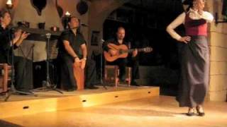 Man and Woman Flamenco dance duel in southern Spain
