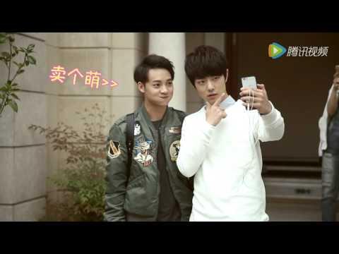 160424 Peng Chu Yue, Zhao Lei, Xiao Zhan, Wu Jia Cheng taking selfies