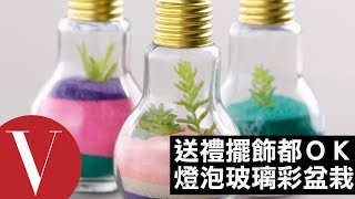 手作禮物?家中擺設也可以!燈泡玻璃盆栽DIY Vogue Taiwan