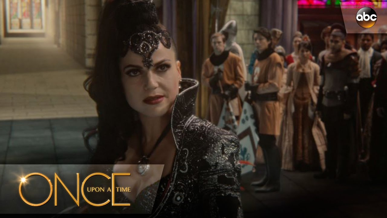 regina poses as evil queen once upon a time youtube