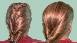 Быстрая Прическа на Каждый День Видео Уроки 2014| Easy Quick Everyday Hairstyles for long hair.