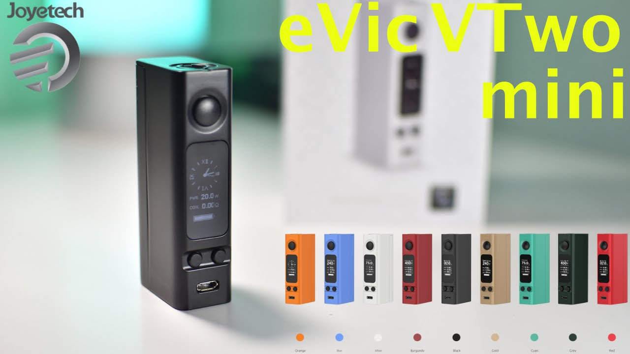 The joyetech evic vtwo mini mod is built around the cubis pro tank but features its own versatile and effective qualities. Featuring a real time clock and.