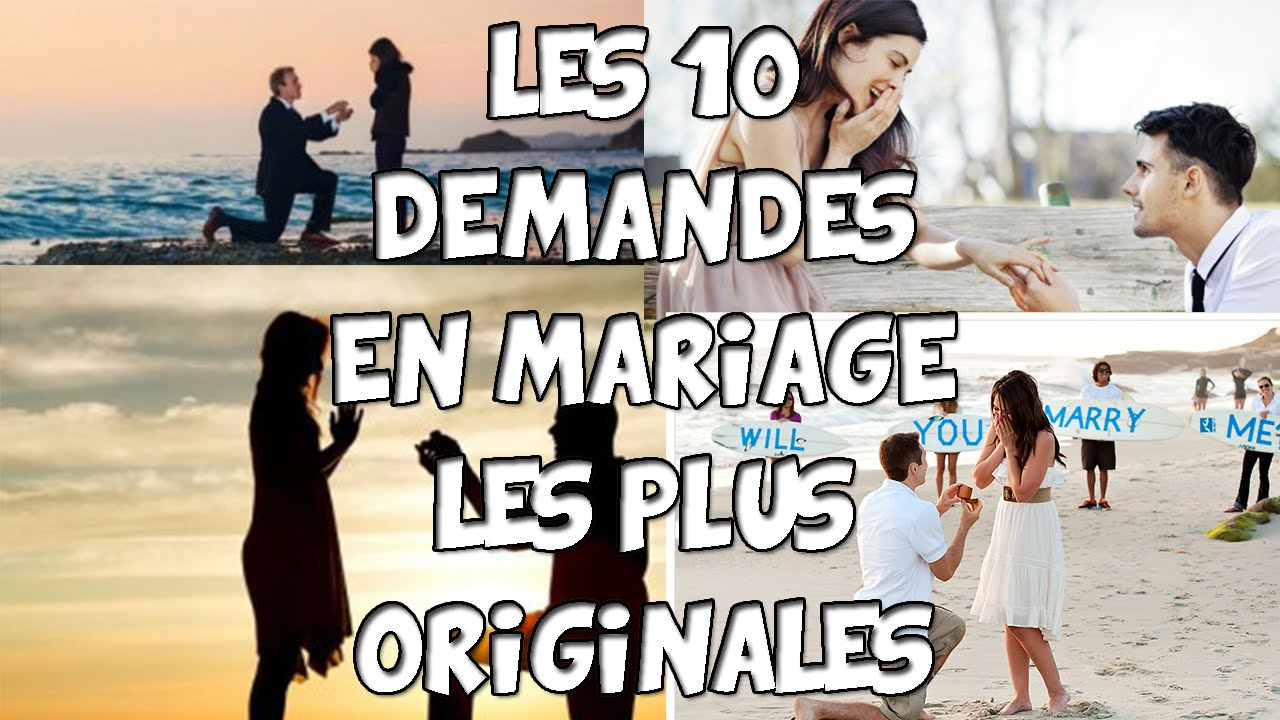 les 10 demandes en mariage les plus originales youtube. Black Bedroom Furniture Sets. Home Design Ideas