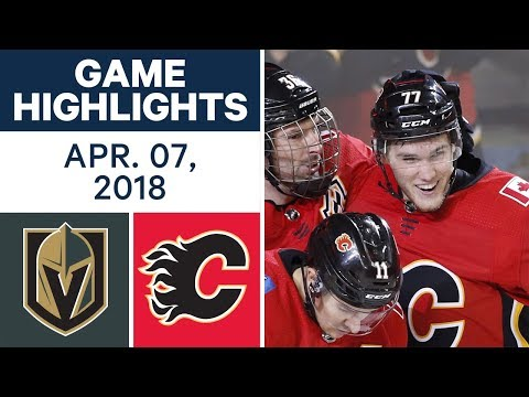 NHL Game Highlights | Golden Knights vs. Flames - Apr. 07, 2018