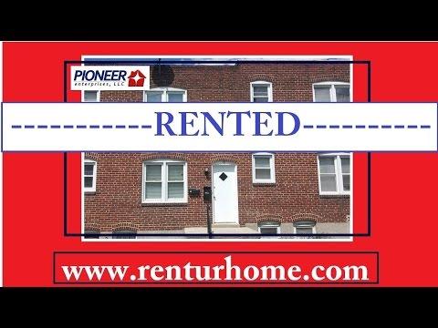 RENTAL - 18 W. Jeffrey Street,  Baltimore, Maryland 21225