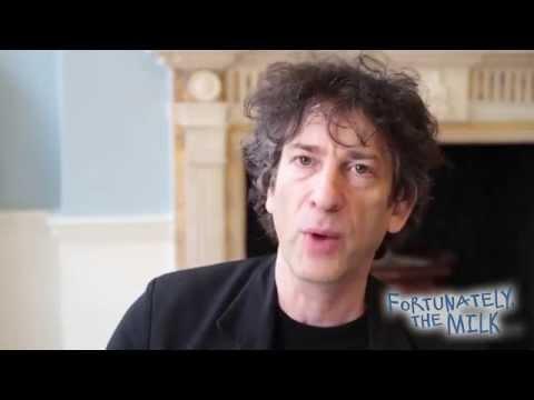 Neil Gaiman reading from Fortunately, The Milk . . .