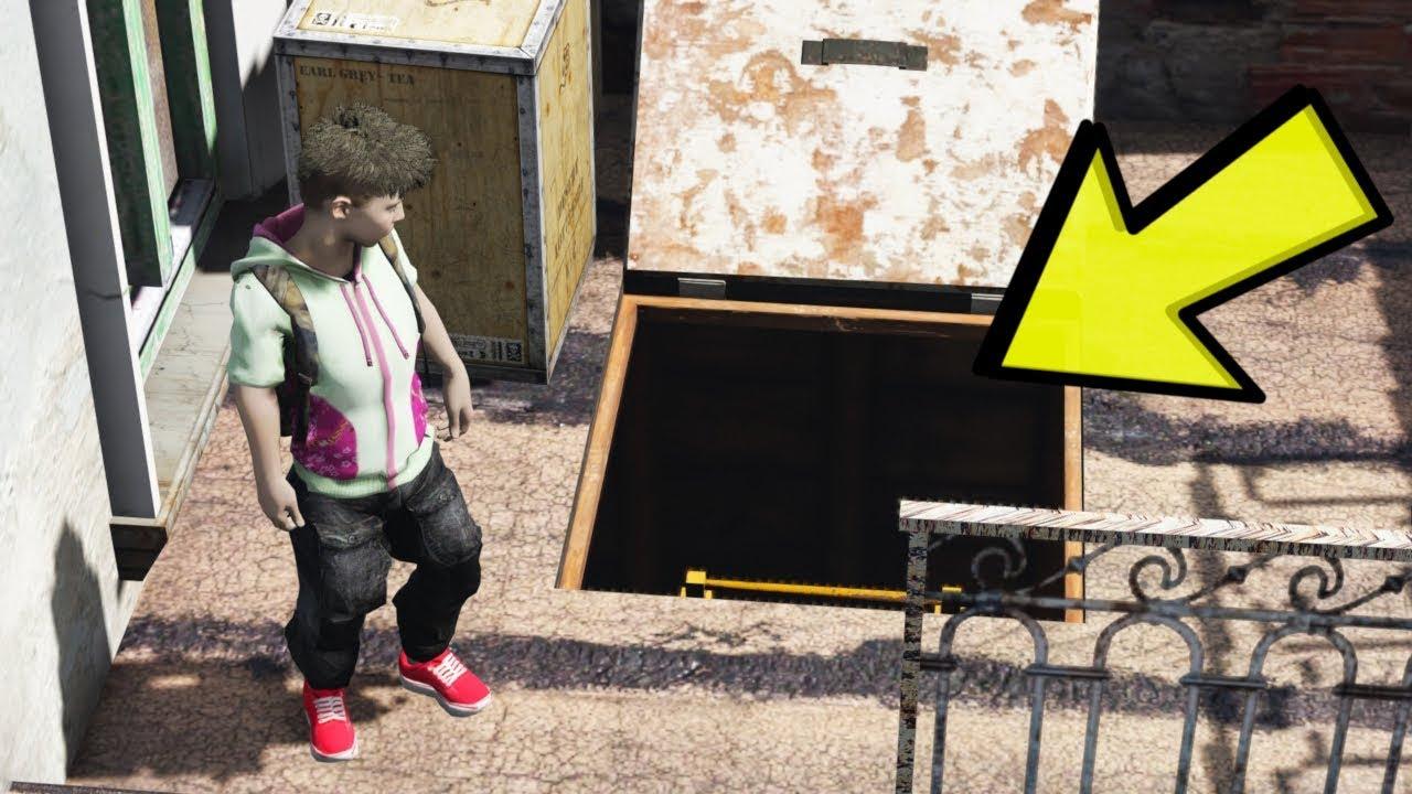 KANLI EV ILE BAGLANTISI OLAN GIZLI YERALTI GIRIŞI (GTA 5)