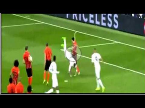 Sergio Ramos performed a nailing strip - Real madrid vs Shakhtar Donetsk