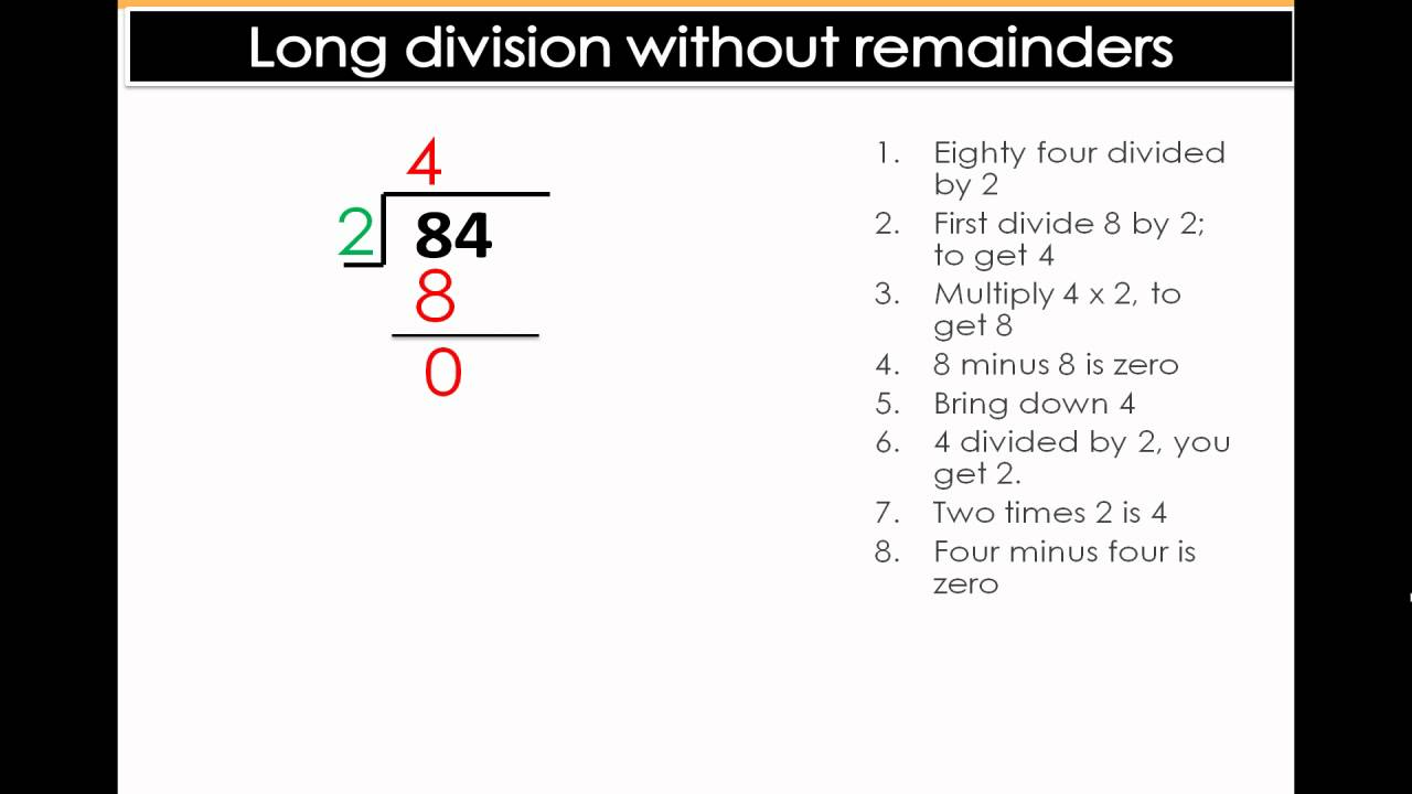 long division with no remainders easy math division lesson 5th 6th grade math youtube. Black Bedroom Furniture Sets. Home Design Ideas