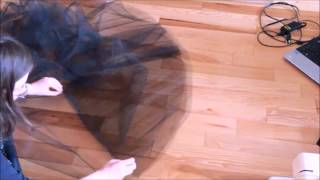 DIY| Paprastas tiulio sijonas su prisiūta guma juosmenyje - Simple Tulle Skirt DIY