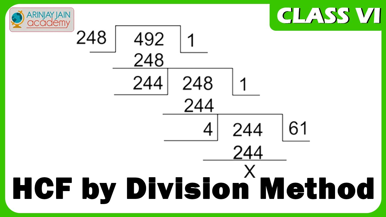 Hcf By Division Method Maths Class Vi Cbse Isce Ncert Youtube