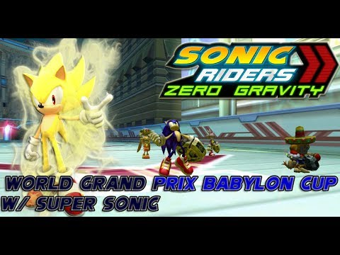 Sonic Riders Zero Gravity World Grand Prix Babylon Cup W/ Super Sonic HD