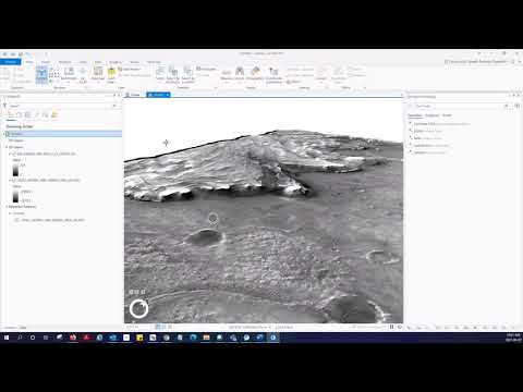 3D Visualization on Mars with ArcGIS Pro