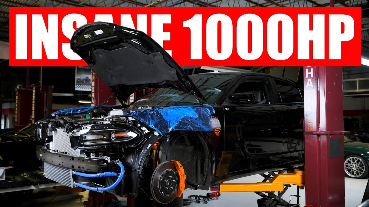 INSANE 1000HP Widebody Hellcat Charger Giveaway Build pt.3