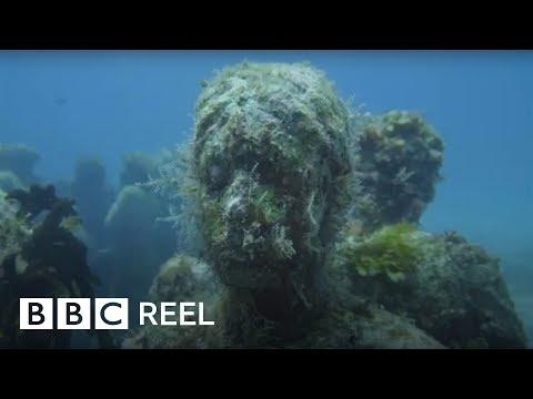The amazing art museum under the sea - BBC REEL