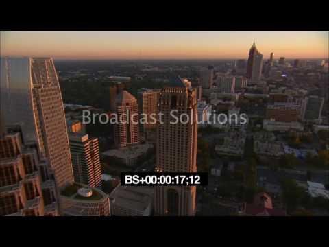 Aerials Midtown Atlanta Skyline