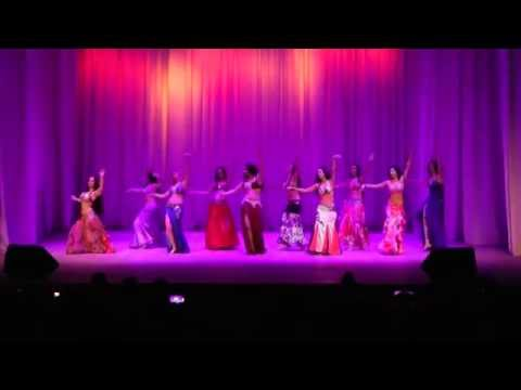 EURASIA bellydance project by Olga Taifi opening the show /baladi&drum solo