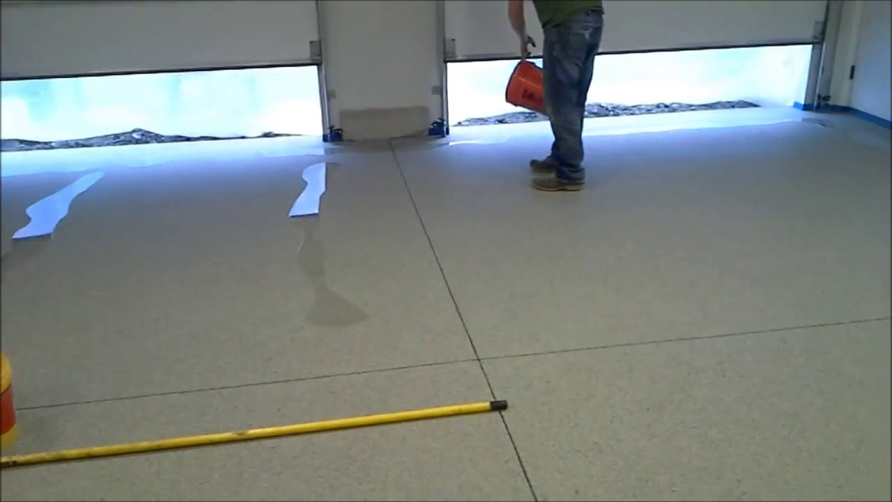 Install A Decorative Epoxy Chip Floor