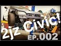 2jz Swapped Civic! Trans Crossmember & spherical tie rods