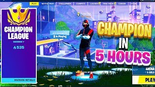 How I went from 0 points to Champion in 5 Hours of Fortnite