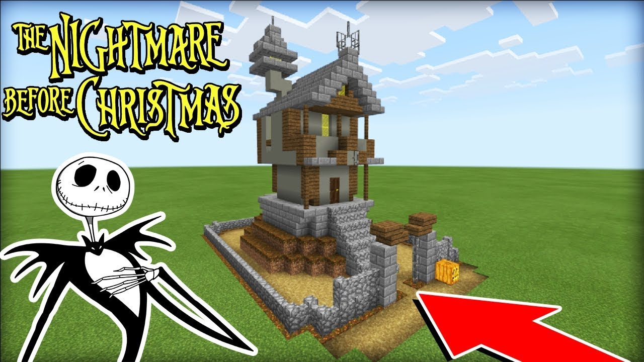 Nightmare Before Christmas Houses.Minecraft Tutorial How To Make Jack Skellingtons House The Nightmare Before Christmas