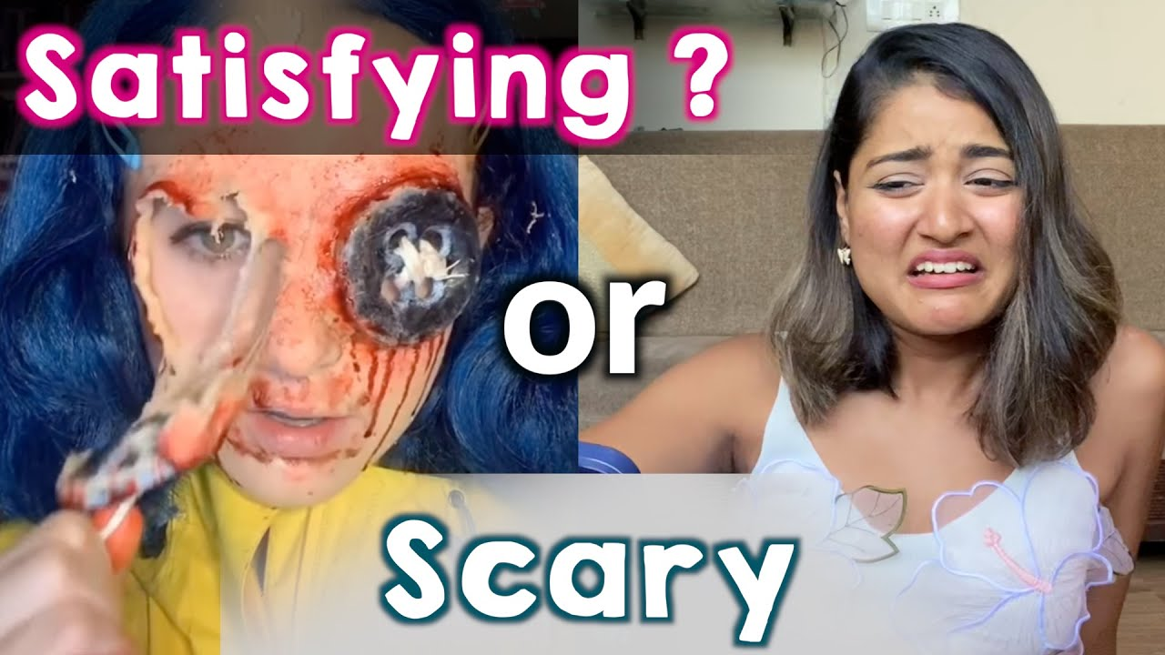 Reacting to Extreme Makeup Removal Challenge   Satisfying or Scary?