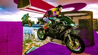 4-Player Way Of The Future Stunt Race - GTA V Online Funny Moments | JeromeACE