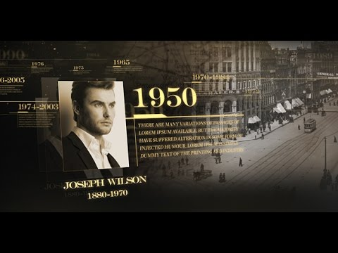 History Timeline After Effects Template YouTube - After effects timeline template