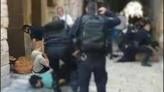 שוטר מחשמל בטייזר צעיר יהודי סמוך להר הבית
