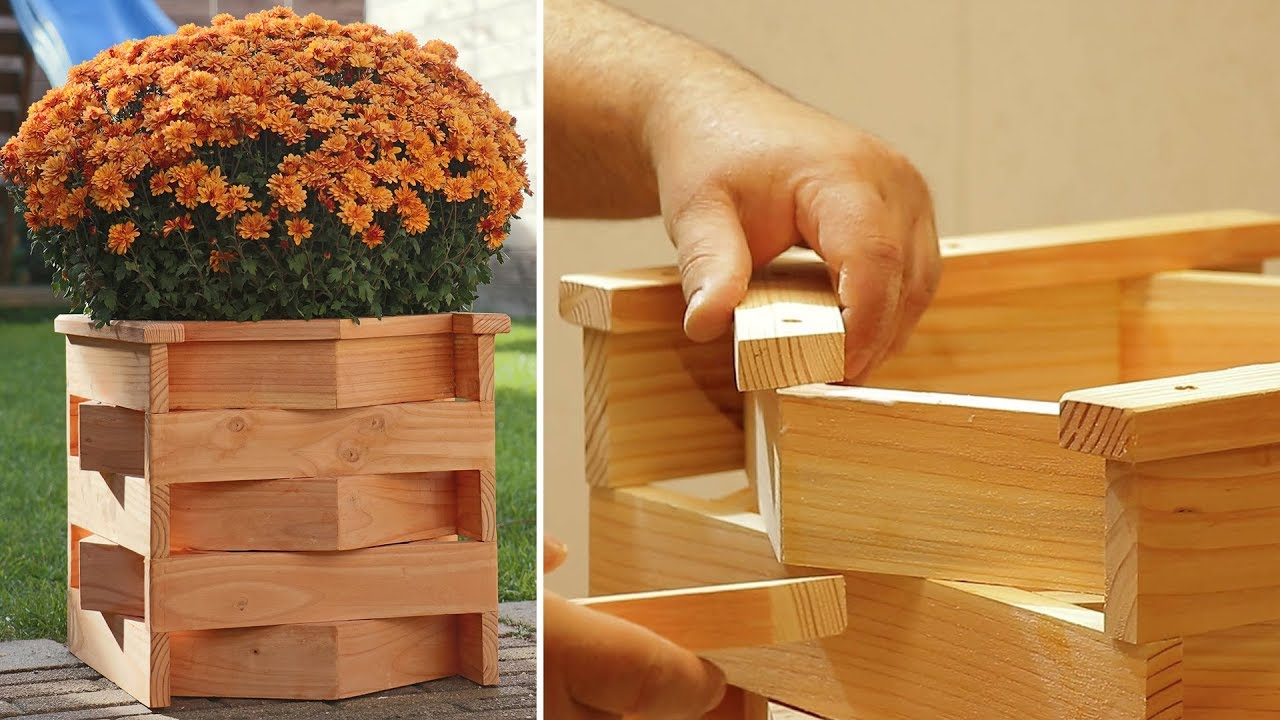 Diy Unique Wood Planter Box Youtube