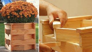 DIY Unique Wood Planter Box