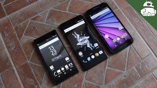 Battle of the minis: OnePlus X vs Xperia Z5 Compact vs Moto G