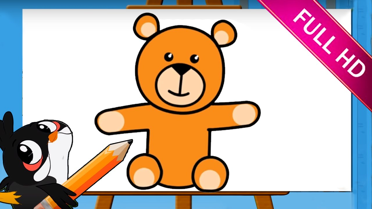 Uncategorized How To Draw A Bear For Kids learn how to draw a bear drawing easy step by for kids youtube