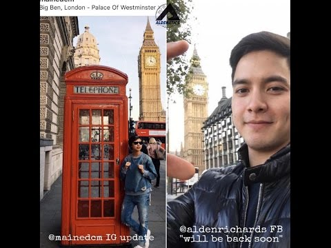 Eat Bulaga January 10 2017 SPOTTED: Alden and Maine Full BTS Weekend Vacation to London and Germany
