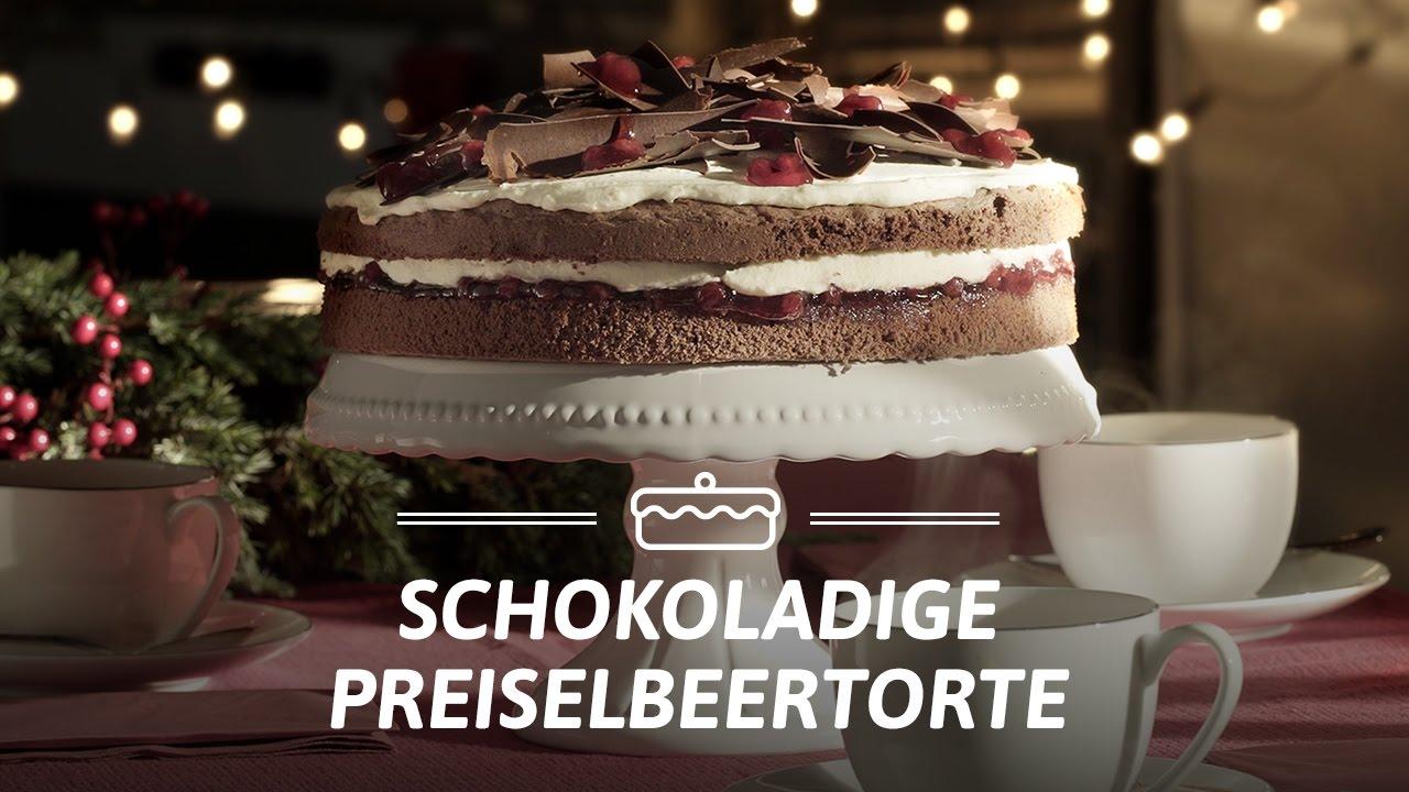 Rezept Schokoladige Preiselbeertorte Von Dr Oetker Youtube