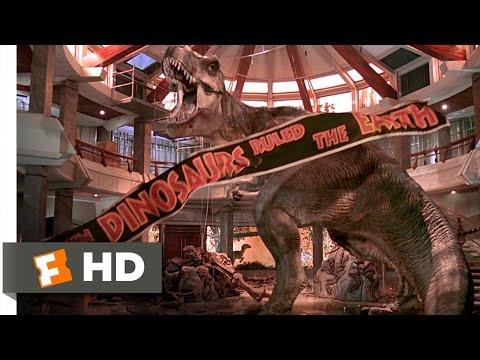 Jurassic Park (10/10) Movie CLIP - T-Rex vs. the Raptors (1993) HD