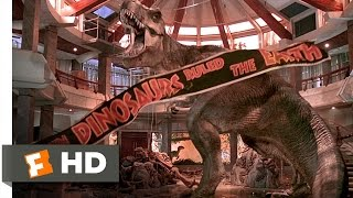 Jurassic Park (10/10) Movie CLIP - T-Rex vs. the Raptors (1993) HD